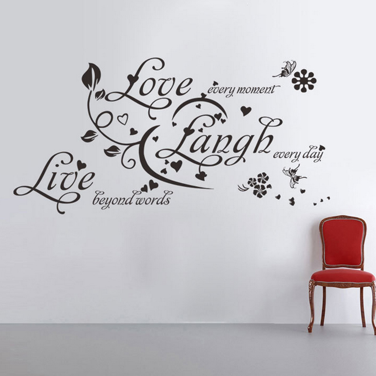 Wall Art Words Diy : Diy fashion vinyl art quote words wall stickers home decal