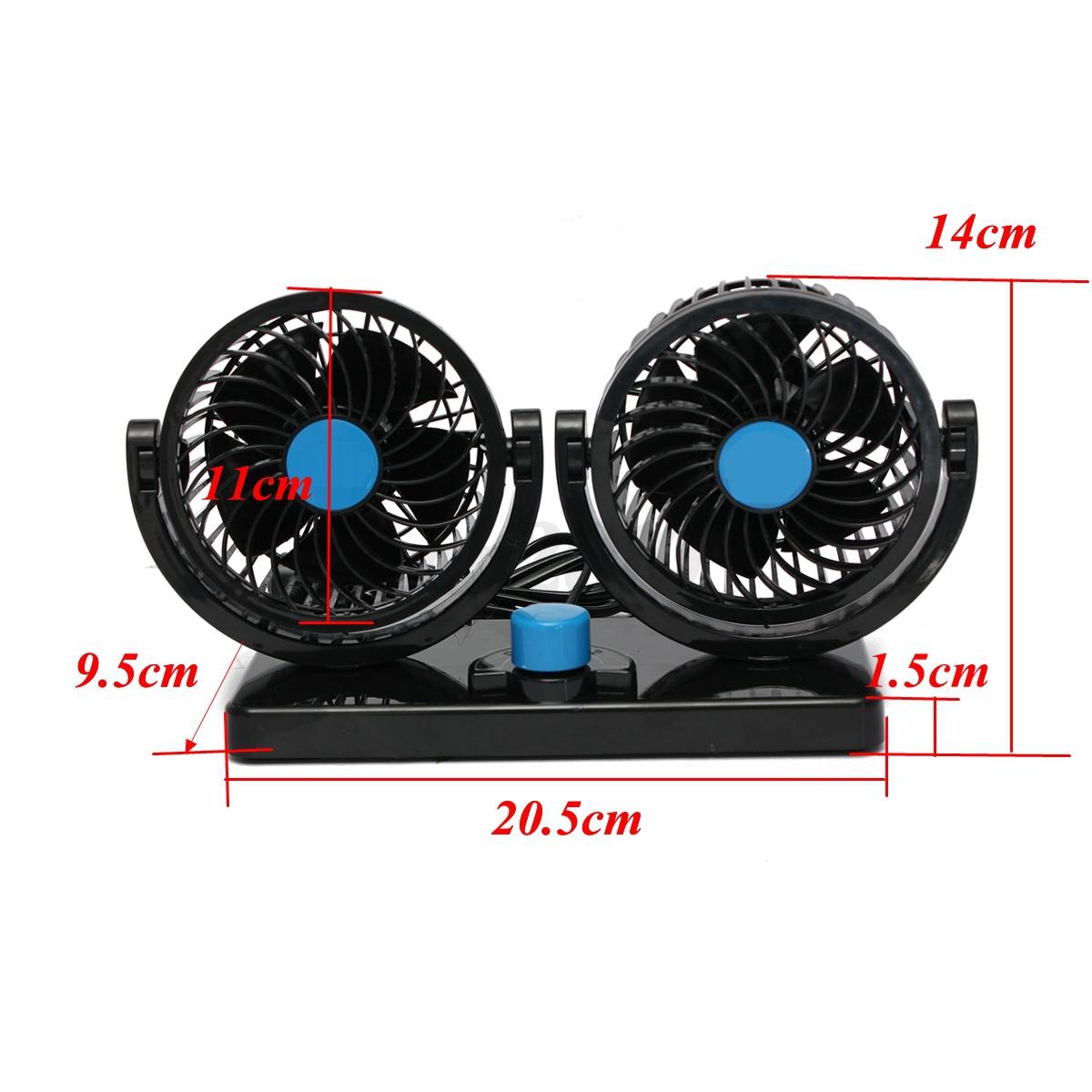 12v 360 rotation voiture air fan cooler ventilateur refroidissement climatiseur ebay. Black Bedroom Furniture Sets. Home Design Ideas
