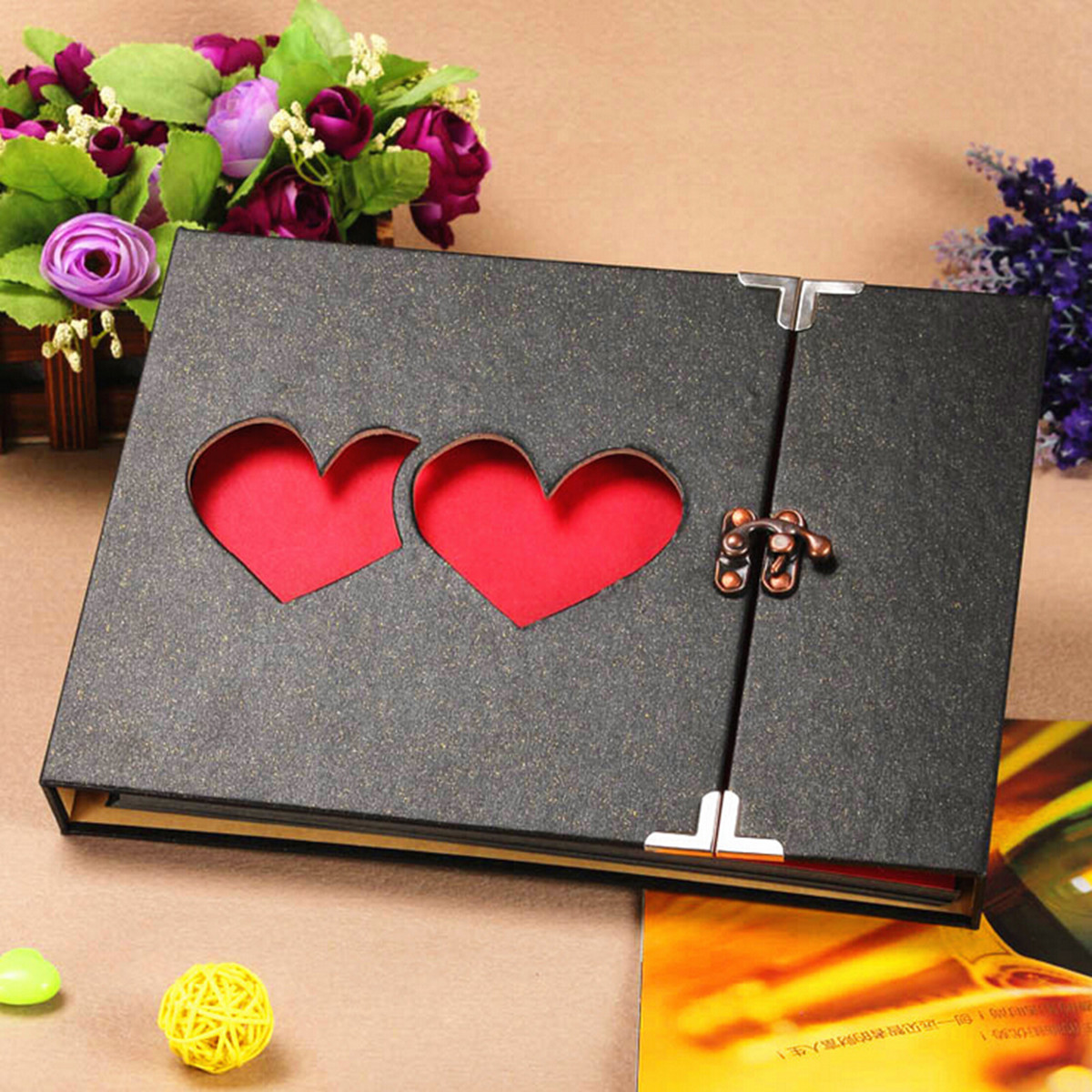 Scrapbook ideas for anniversary - Image Is Loading Hollowed Heart Love Photo Photography Album Scrapbook Diy