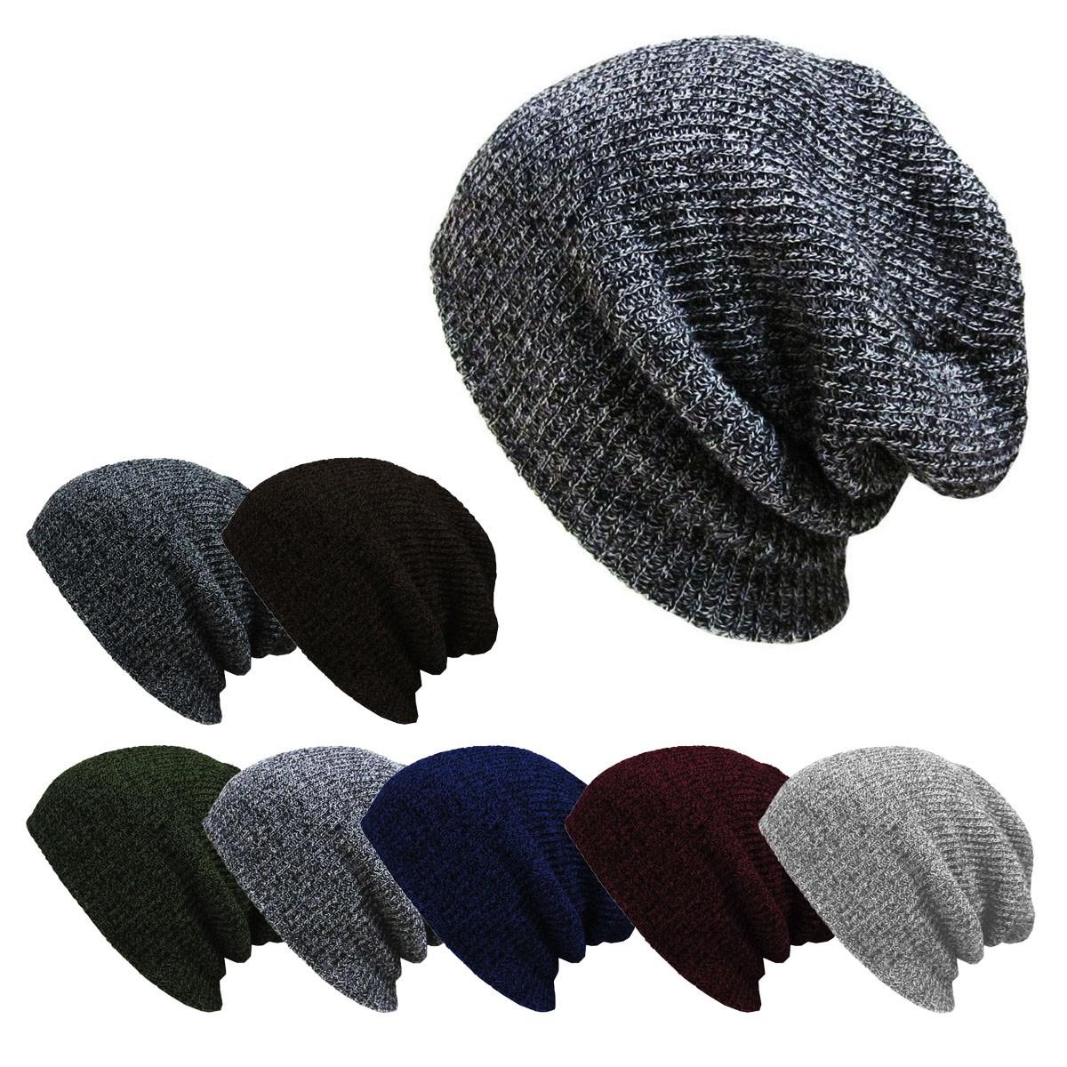 femme homme bonnet crochet tricot laine chapeau beanie beret casquette hiver ebay. Black Bedroom Furniture Sets. Home Design Ideas