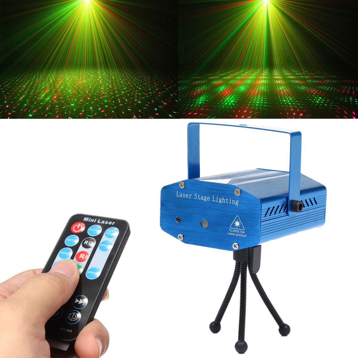 Mini led laser stage projecteur xmas lumiere eclairage telecommande pr dj disco ebay for Projecteur led laser