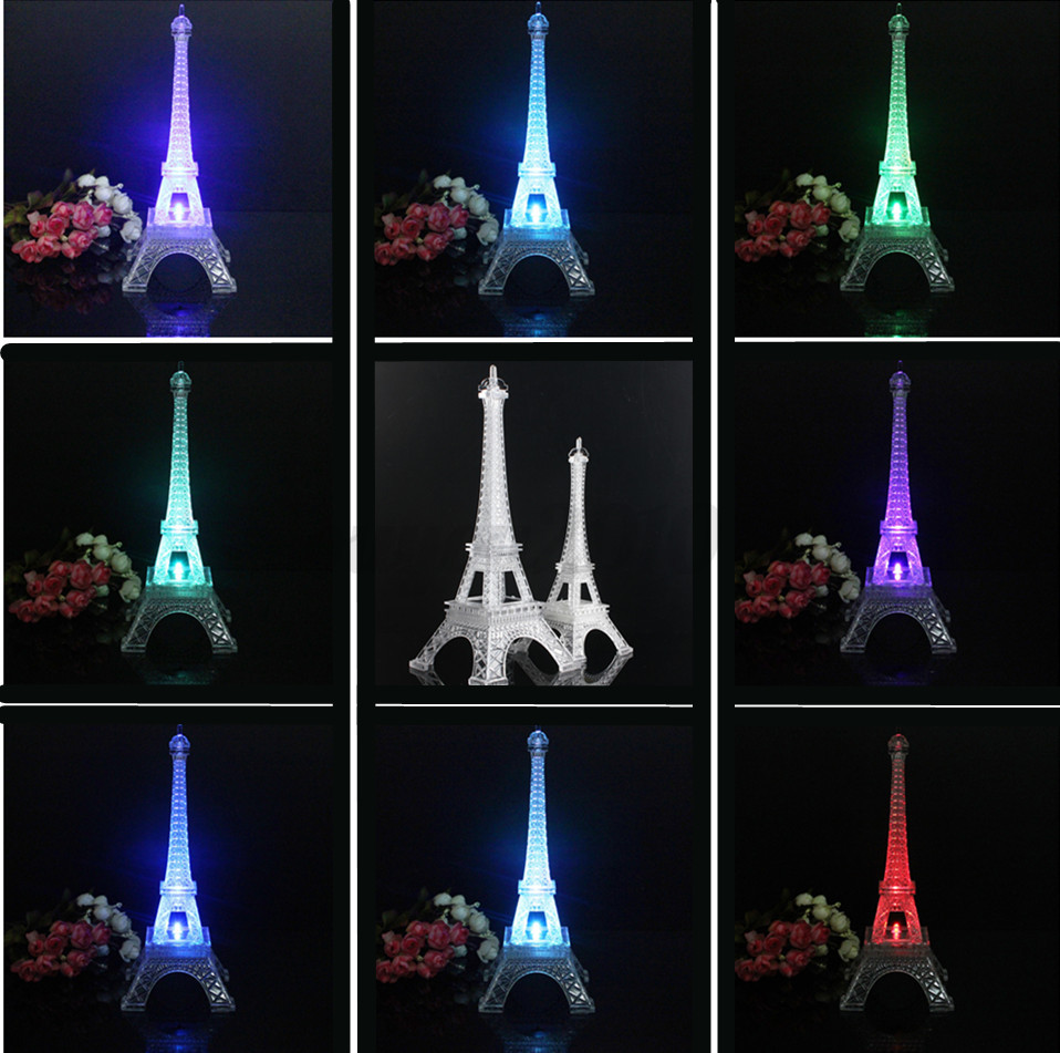 rgb led tour eiffel veilleuse clairage lampe lumi re nuit chambre soir e no l ebay. Black Bedroom Furniture Sets. Home Design Ideas