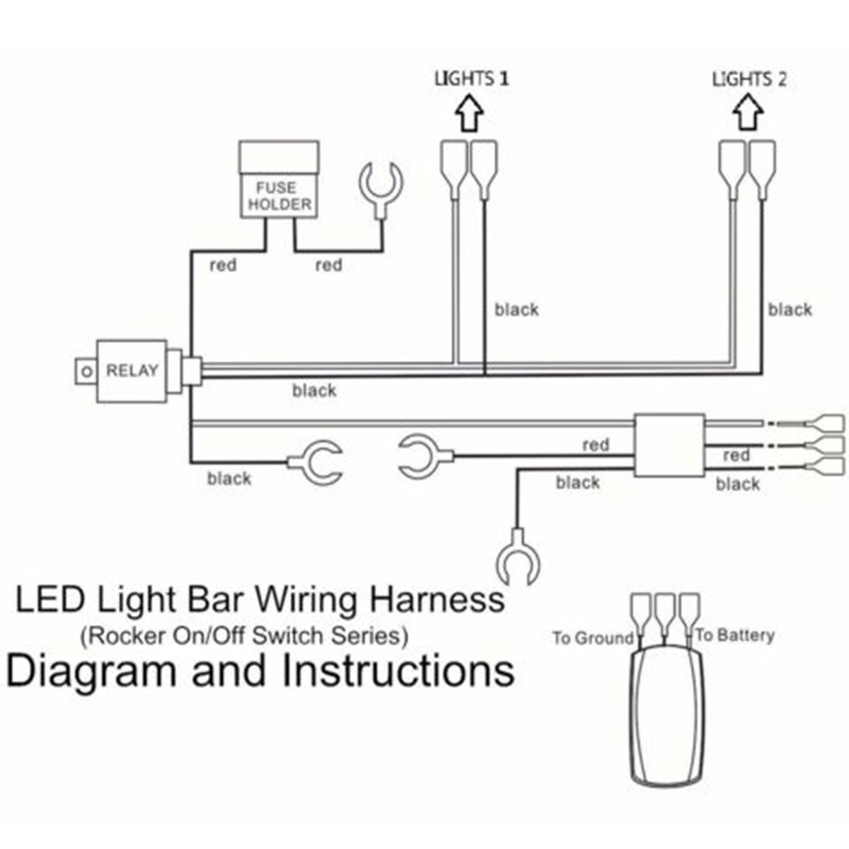 off road light wiring diagram automotive electronics 12v 40 amp off road atv/jeep led light bar wiring harness ... off road light wiring diagram with relay