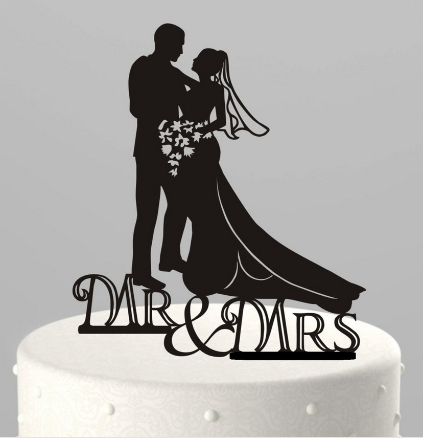 mr amp mrs wedding cake topper bride amp