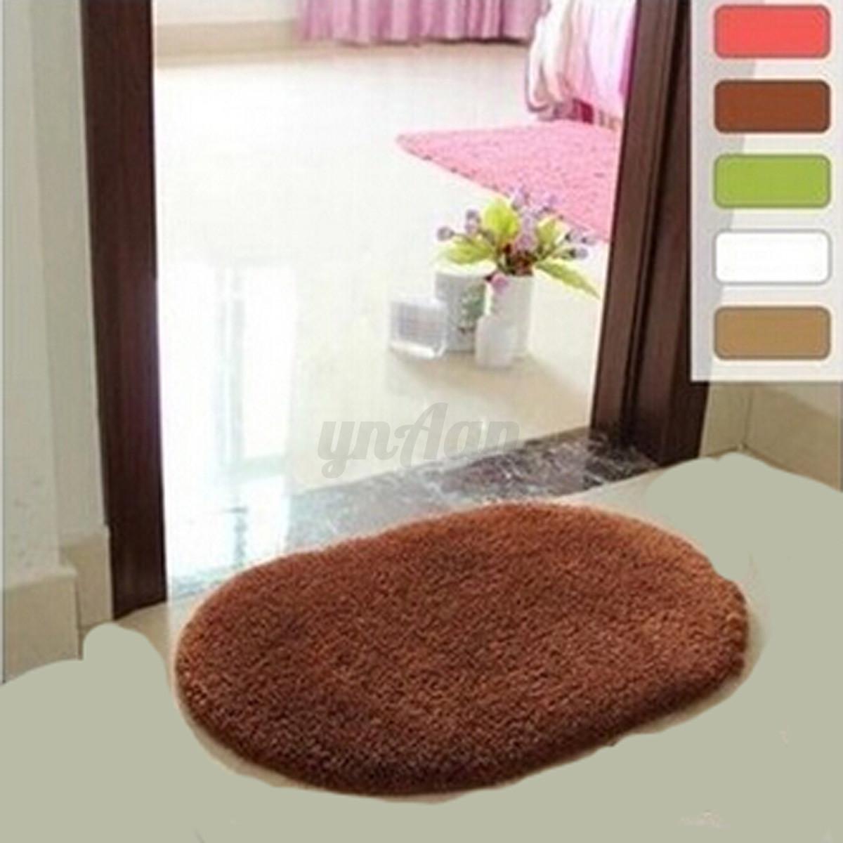 tapis de bain paillasson shaggy entr e sol carpette antid rapant douche salon ebay. Black Bedroom Furniture Sets. Home Design Ideas