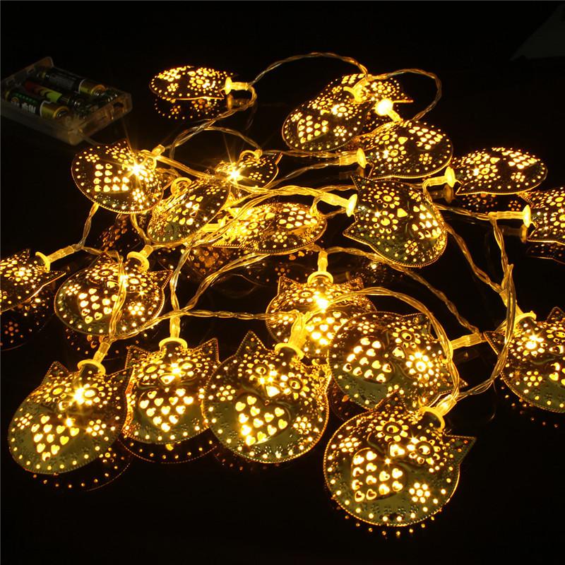 20 LED Warm White Owl Fairy Light String Lamp Wedding Xmas Christmas Party Decor eBay