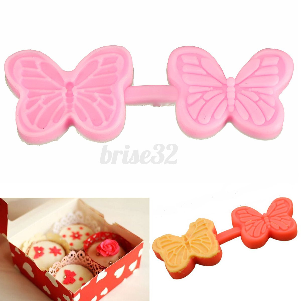 Silicone Butterfly Cake Fondant Decorating Baking Mold Mould DIY Sugar Craft