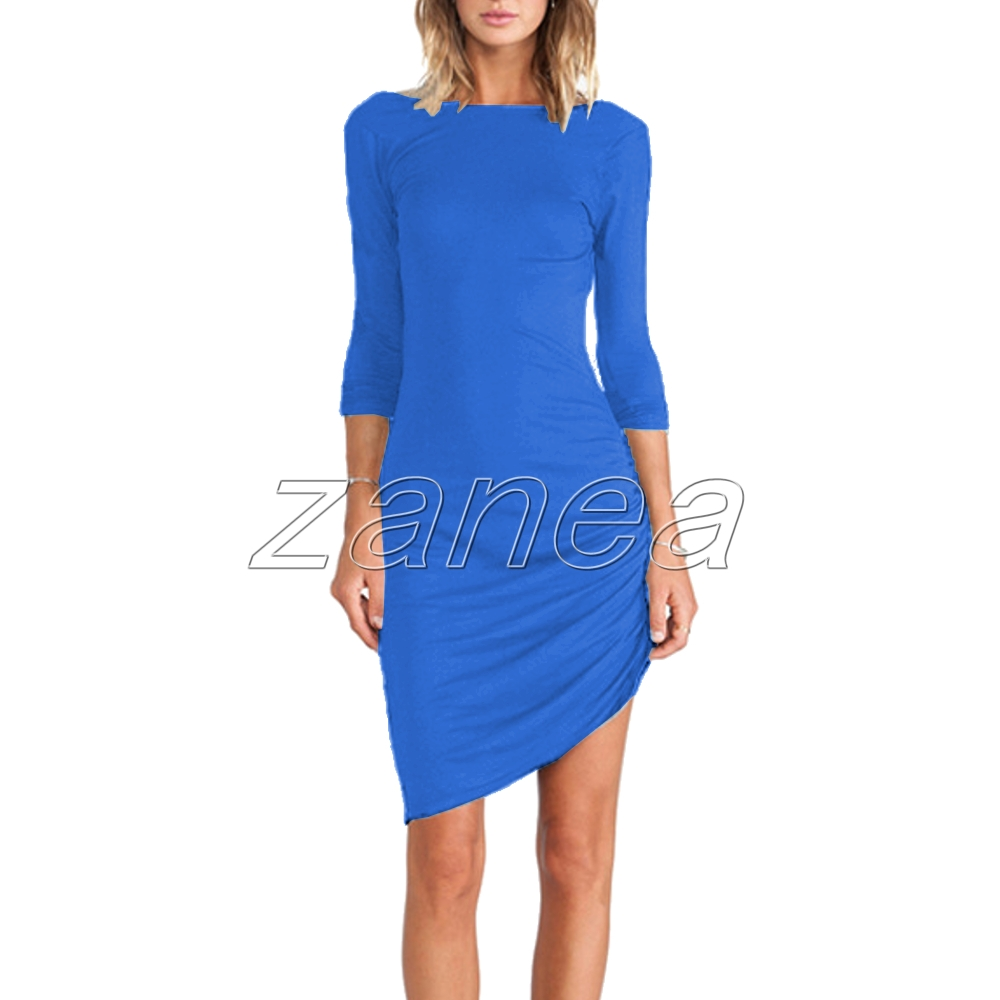 Sexy Women Casual Long Sleeve Bodycon Party Evening Cocktail Mini Dress