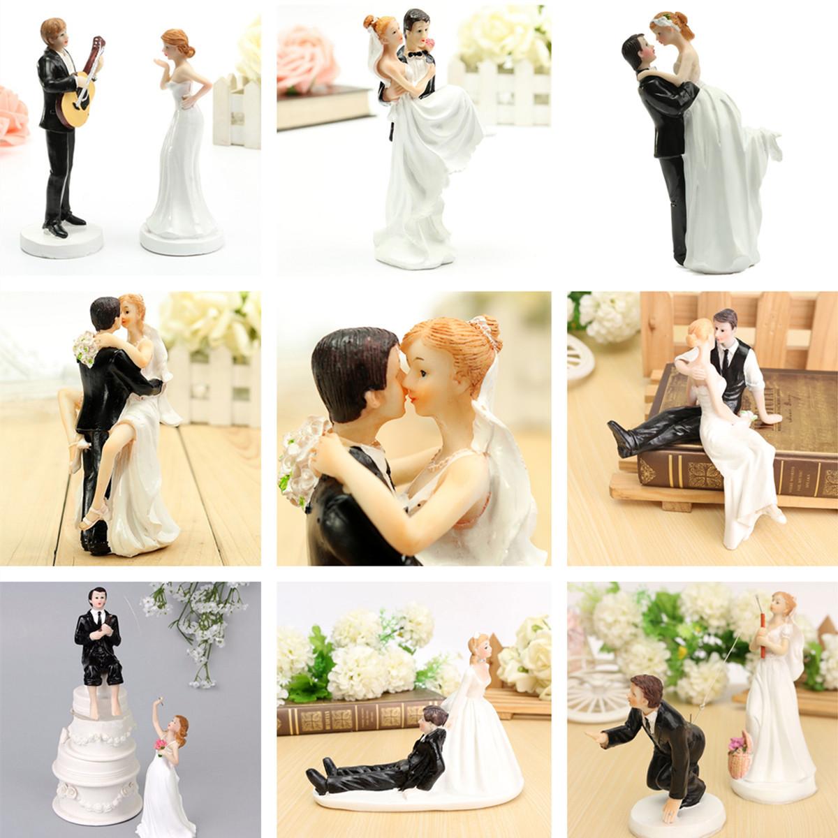 Resin Bride and Groom Couple Figurine Romantic Wedding