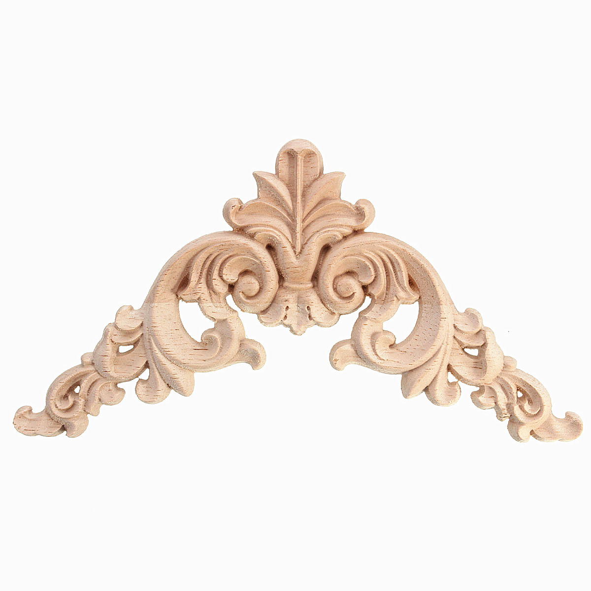 Unpainted Wood Oak Carved Corner Onlay Applique Furniture Home Decor Ebay