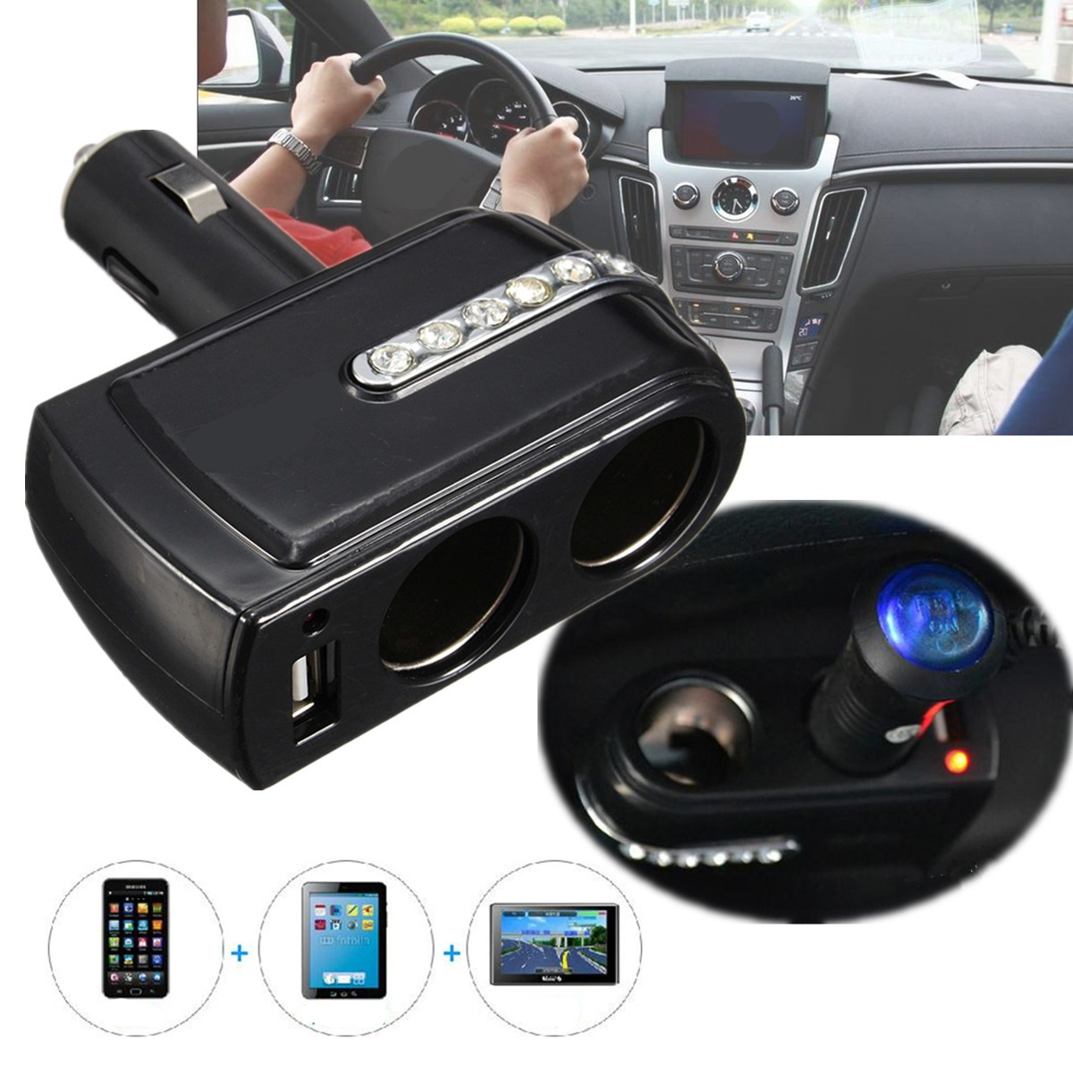 6a 3 ports voiture allume cigare multiprise chargeur socket adaptateur pr iphone ebay. Black Bedroom Furniture Sets. Home Design Ideas