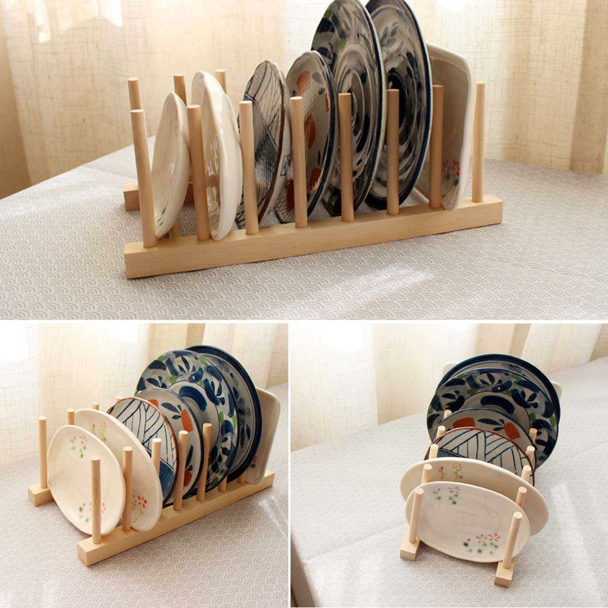Wooden Dish Drainer Plate Rack Holder Stand Plates Drying Storage . Full resolution  file, nominally Width 1200 Height 1200 pixels, file with #8F643C.