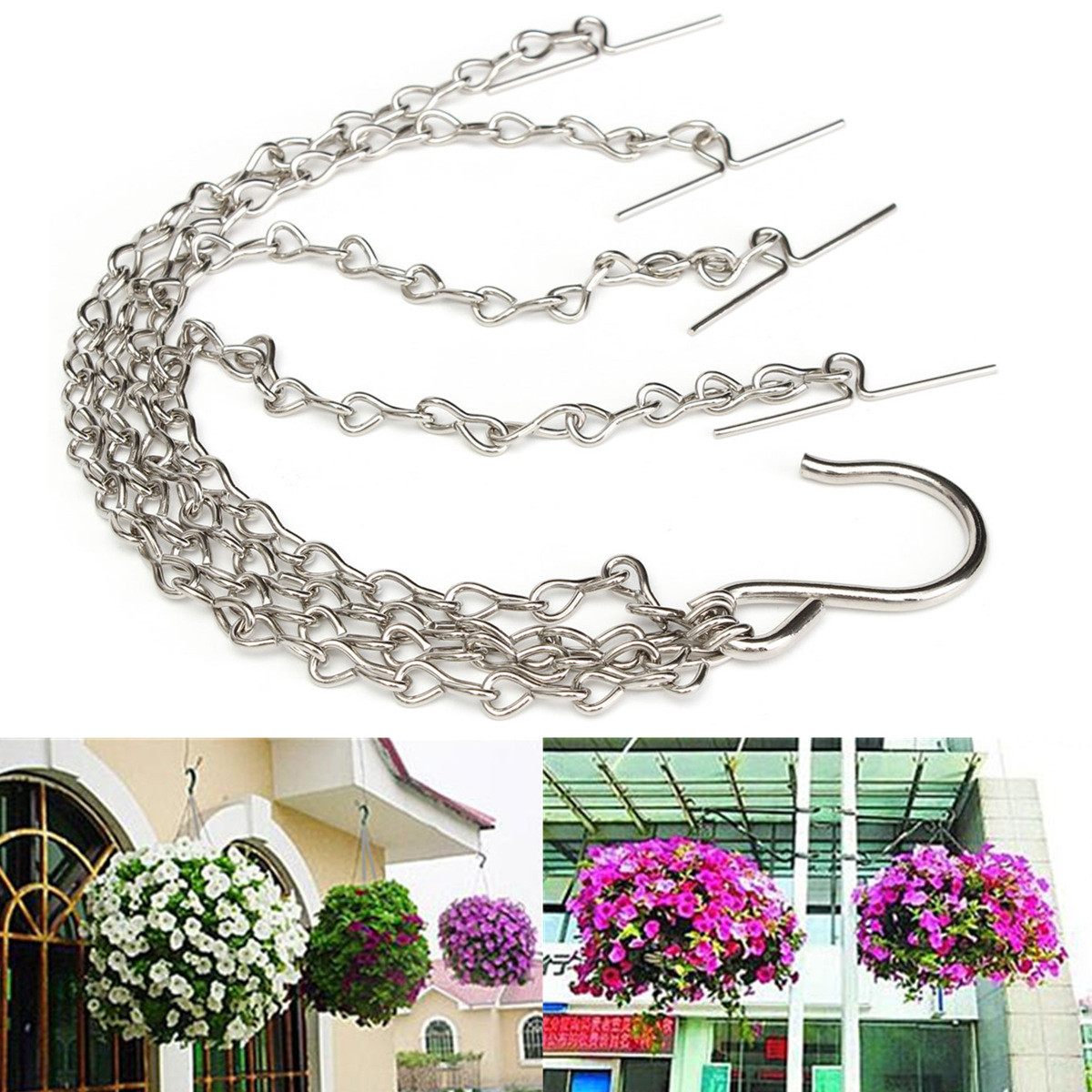 35cm replacement chain for flower shop hanging basket - Hanging baskets for balcony ...