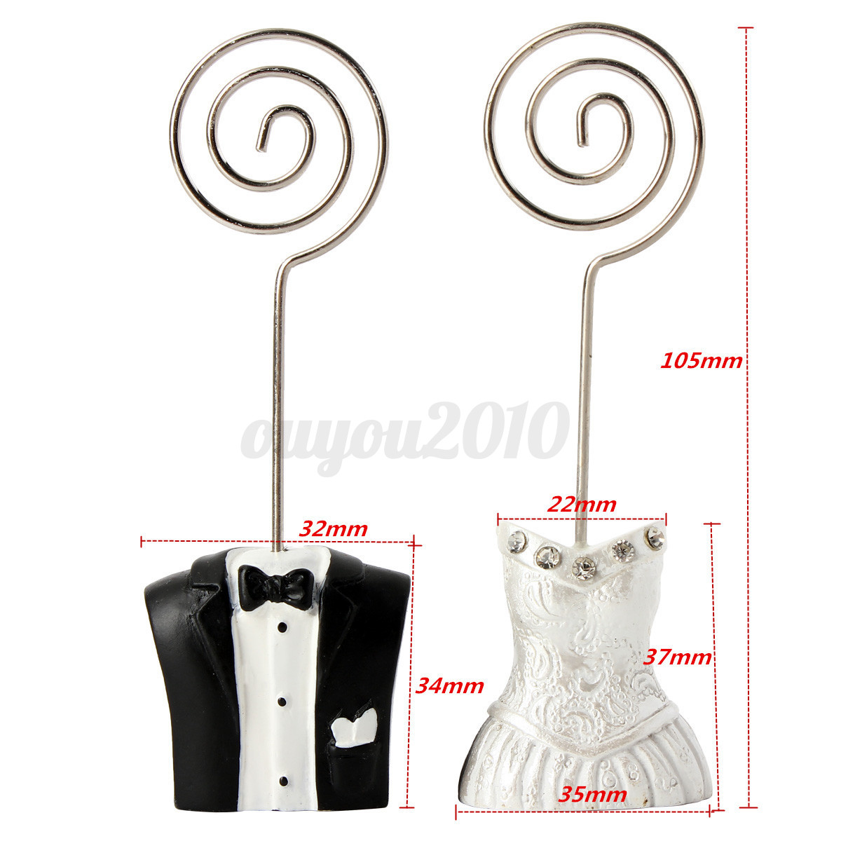 2pcs pince marque place porte nom carte mariage table de for Decoration porte nom