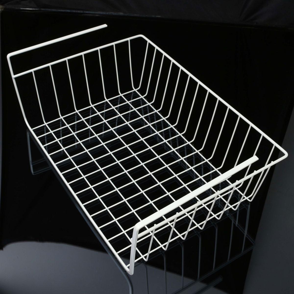 under shelf basket rack storage organizer holder for. Black Bedroom Furniture Sets. Home Design Ideas