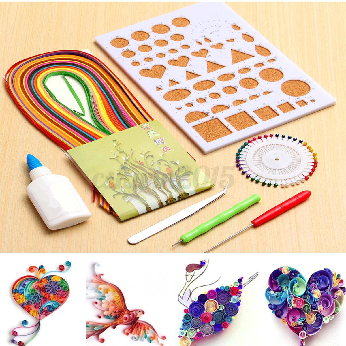 Details zu 7pcs/set 12 Colors Paper Quilling Strips Tools Crimper Tool ...