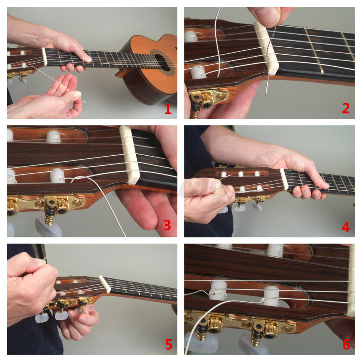 slotted bone nut replacement for 6 strings bass electric acoustic guitar 43mm ebay. Black Bedroom Furniture Sets. Home Design Ideas
