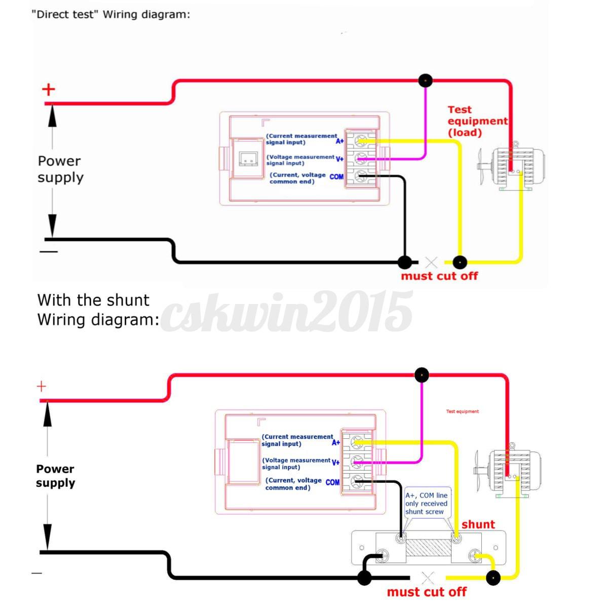 Wiring An Led Shunts Diagrams Digital Ammeter Diagram 0 100v 20a Dc Voltmeter Amp Volt Rheostat