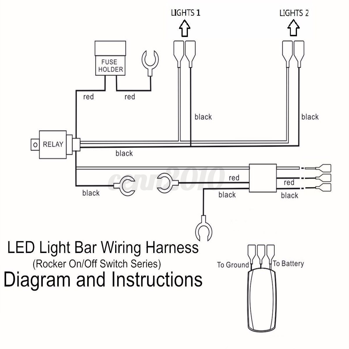 Cree Light Bar Wiring Diagram Stedi Clarion Nx409 Color Led Harness Ewiring On Off Switch Rocker Diagrams Road