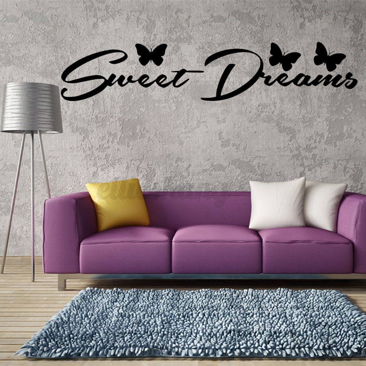 sweet dreams quote butterfly wall sticker decals art baby wall sticker quote personalised sweet dreams girl