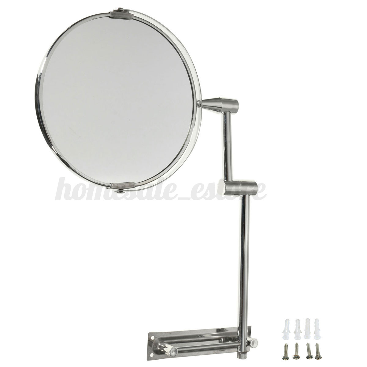 Extending Double Sided Wall Mounted Mirror Bathroom Cosmetic Makeup Magnifying
