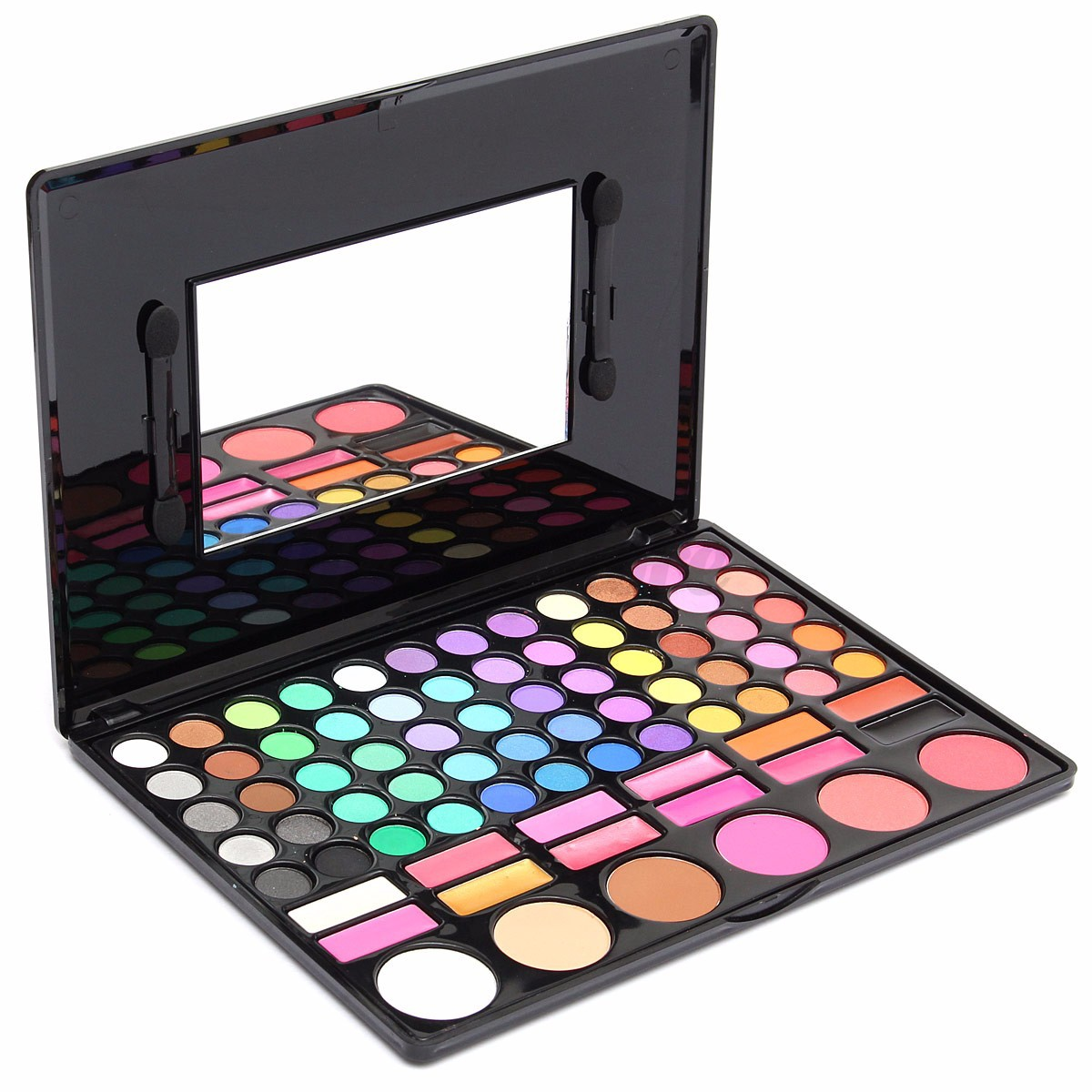 Professional Shimmer Eyeshadow Palette Blush Lip Gloss Makeup Cosmetic Set Kit | EBay