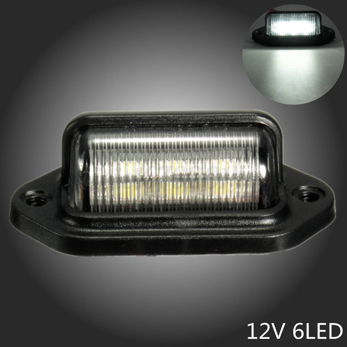 Led License Plate Tag Interior Step Light Boat Marine Trailer Truck Rv Caravan Ebay