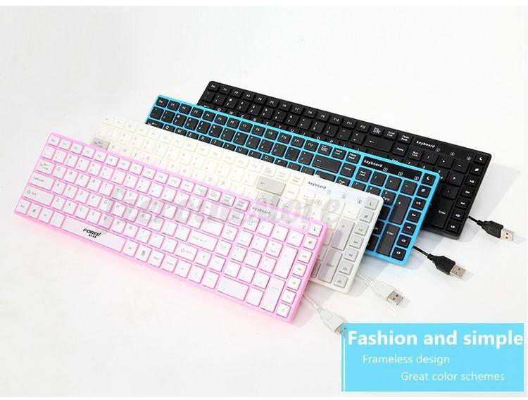 forev tastatur usb kabel multimedia keyboard schutzh lle f r computer notebook ebay. Black Bedroom Furniture Sets. Home Design Ideas