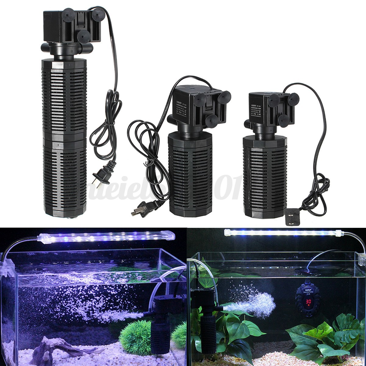 3 model submersible aquarium internal filter water pump f for Pool filter for koi pond