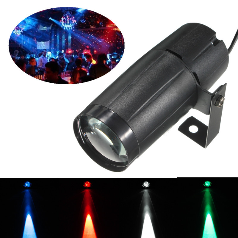 3W LED Pinspot Beam Stage Effect RGBW Spot Light 4 Colors DJ Disco Party Club