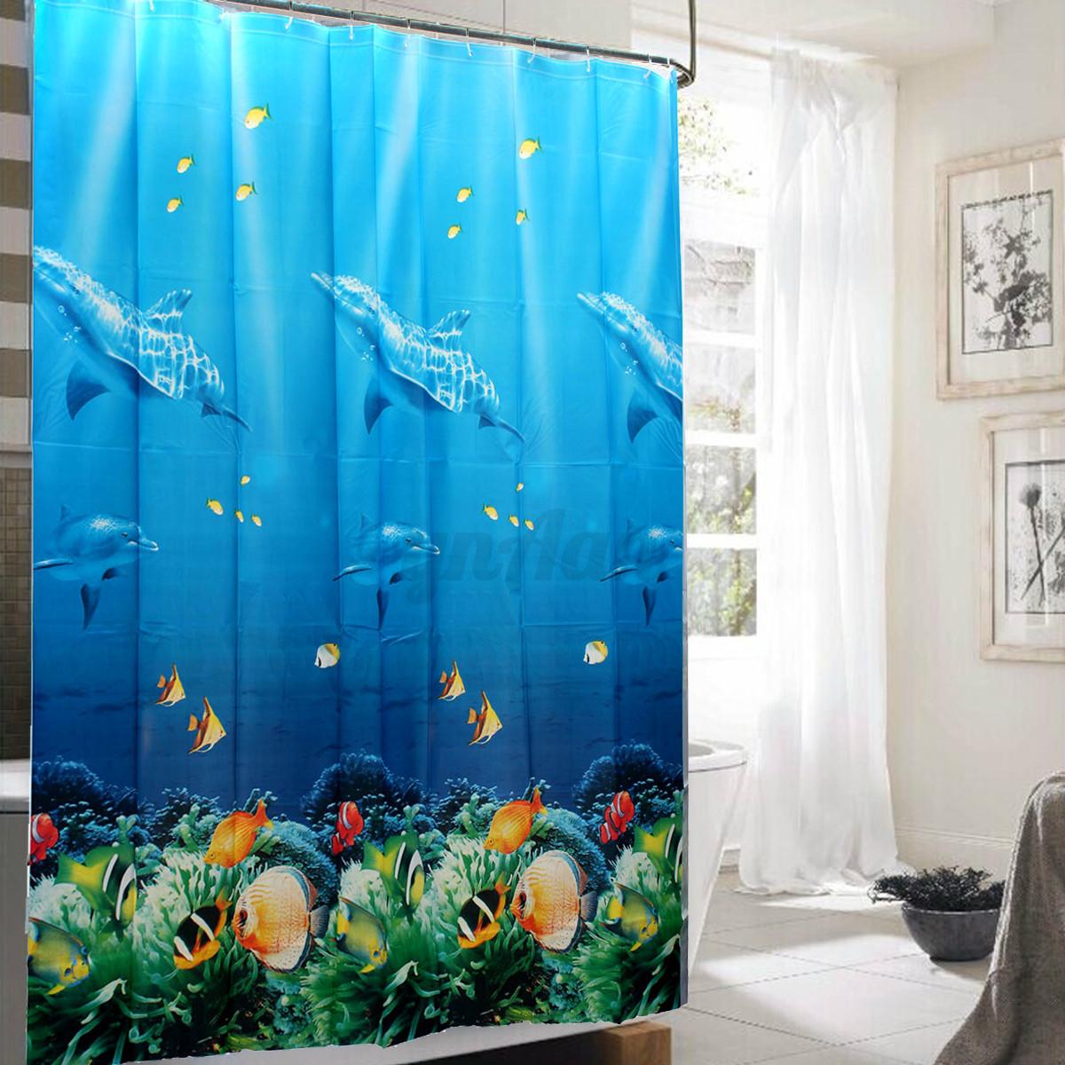 ... Blue Dolphin Waterproof Mildew Shower Curtain Shower Curtain Curtain