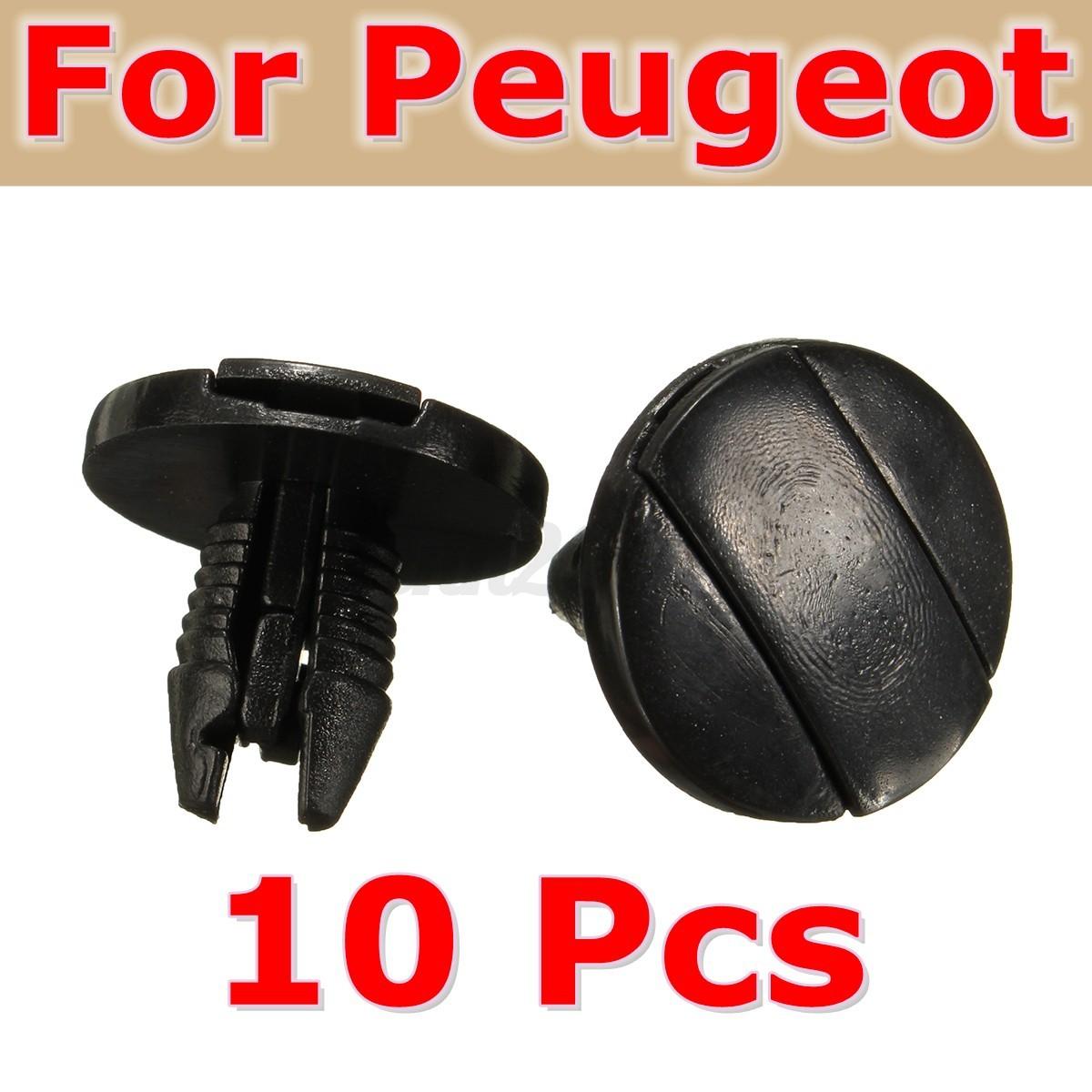 lot 10x garde boue clips agrafes fixation pour peugeot 207 307 206 sw cc 856553 ebay. Black Bedroom Furniture Sets. Home Design Ideas