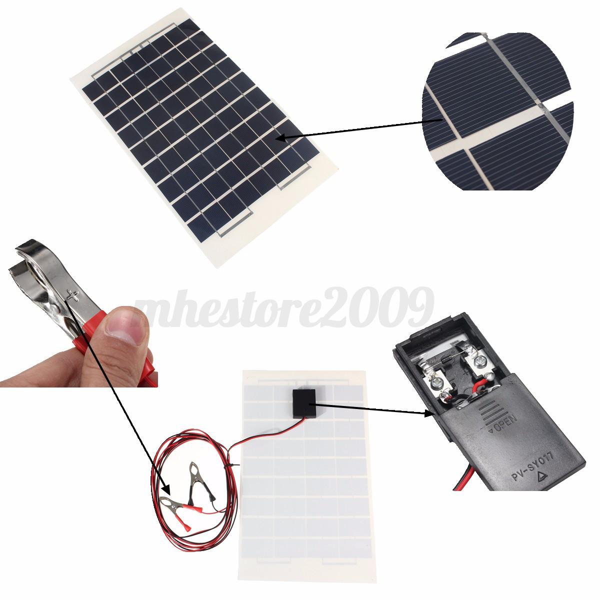 elfeland 10w 12v cell solar panel module battery charger. Black Bedroom Furniture Sets. Home Design Ideas