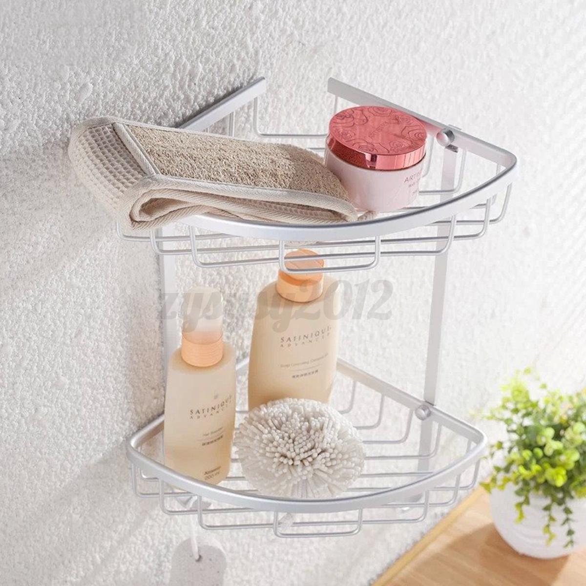 Uk mensola ripiano angolare scaffale doccia porta cucina bagno 1 3 ripiani rack - Scaffale cucina ...