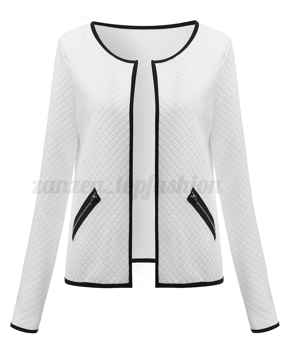 Women Lady Fashion Office OL Casual Long Sleeve Cardigan Coat Jacket Top Blouse