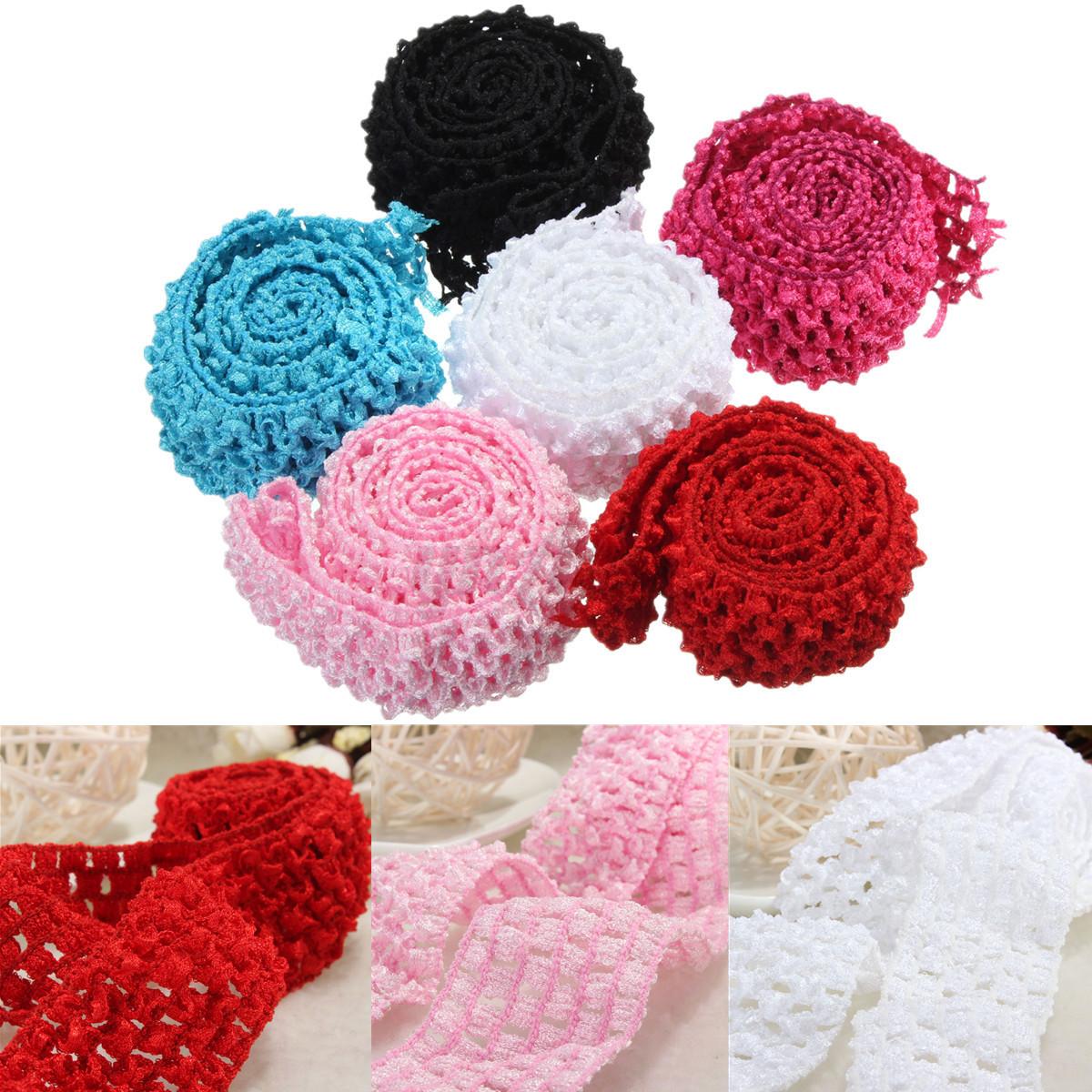 Crochet Elastic Hair Band : Crochet-Elastic-Stretchy-Waistband-Headband-Hair-Band-Strap-For ...