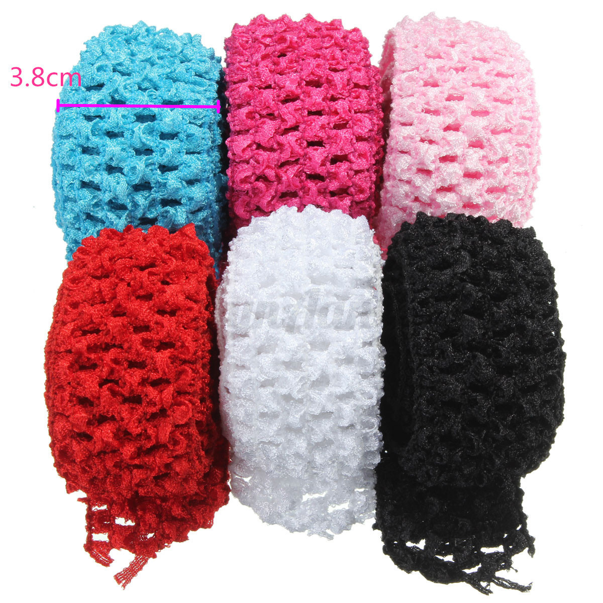 about 1.5 Crochet Elastic Stretchy Waistband Headband Hair Band ...