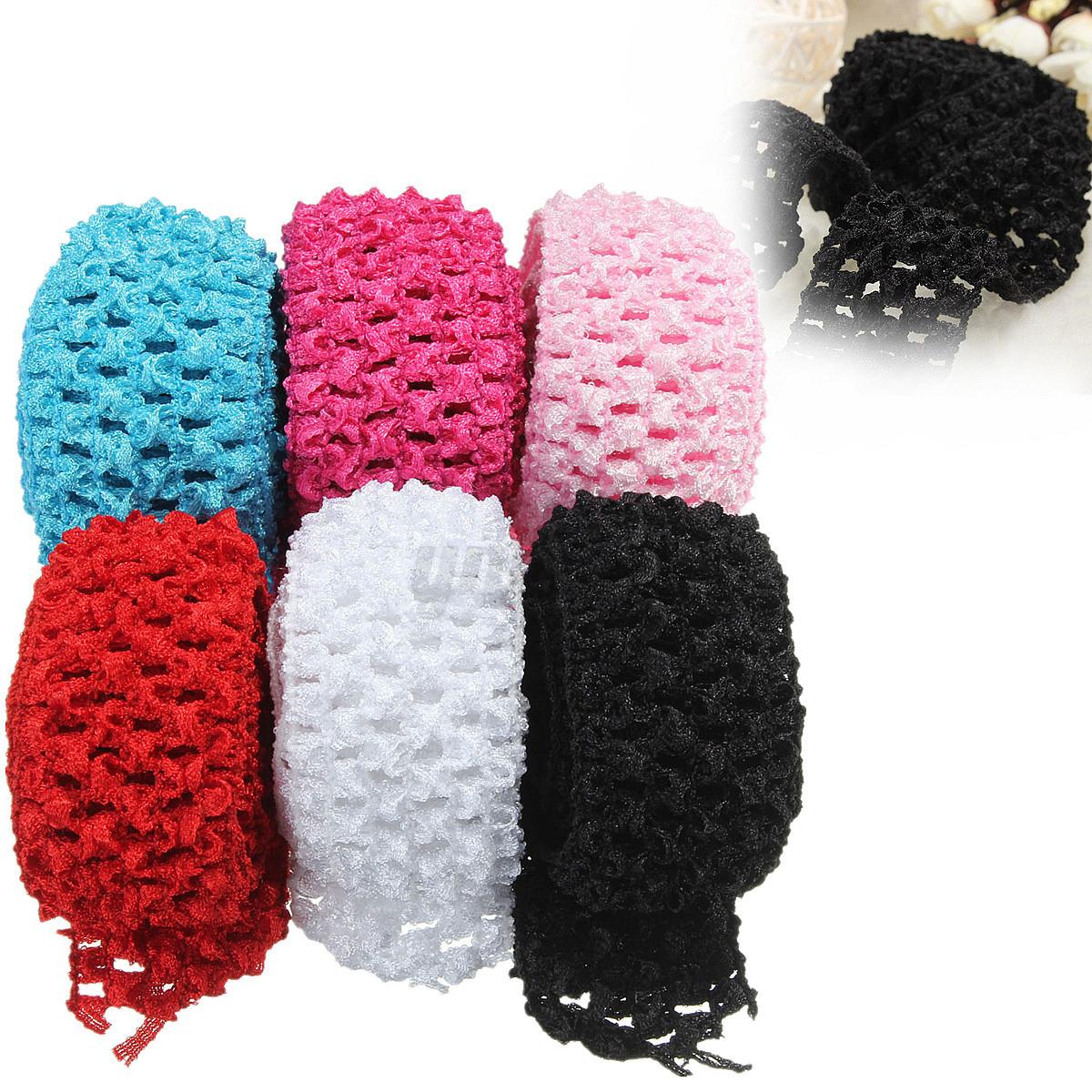 1 5 Crochet Elastic Stretchy Waistband Headband Hair ...