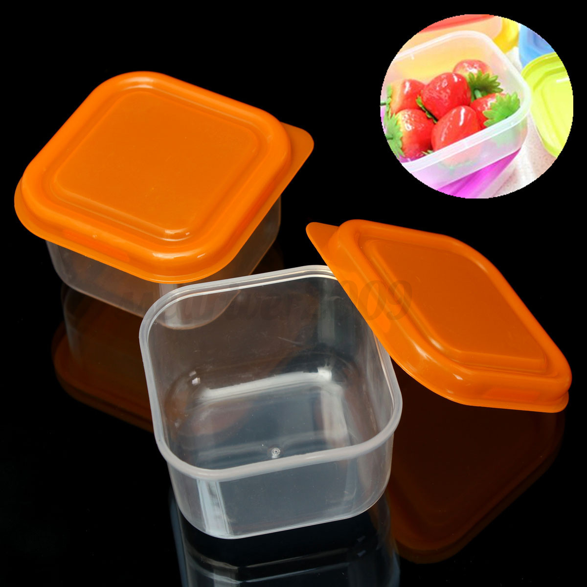 10pcs reusable plastic food sweet storage containers organizer box set with lids ebay. Black Bedroom Furniture Sets. Home Design Ideas