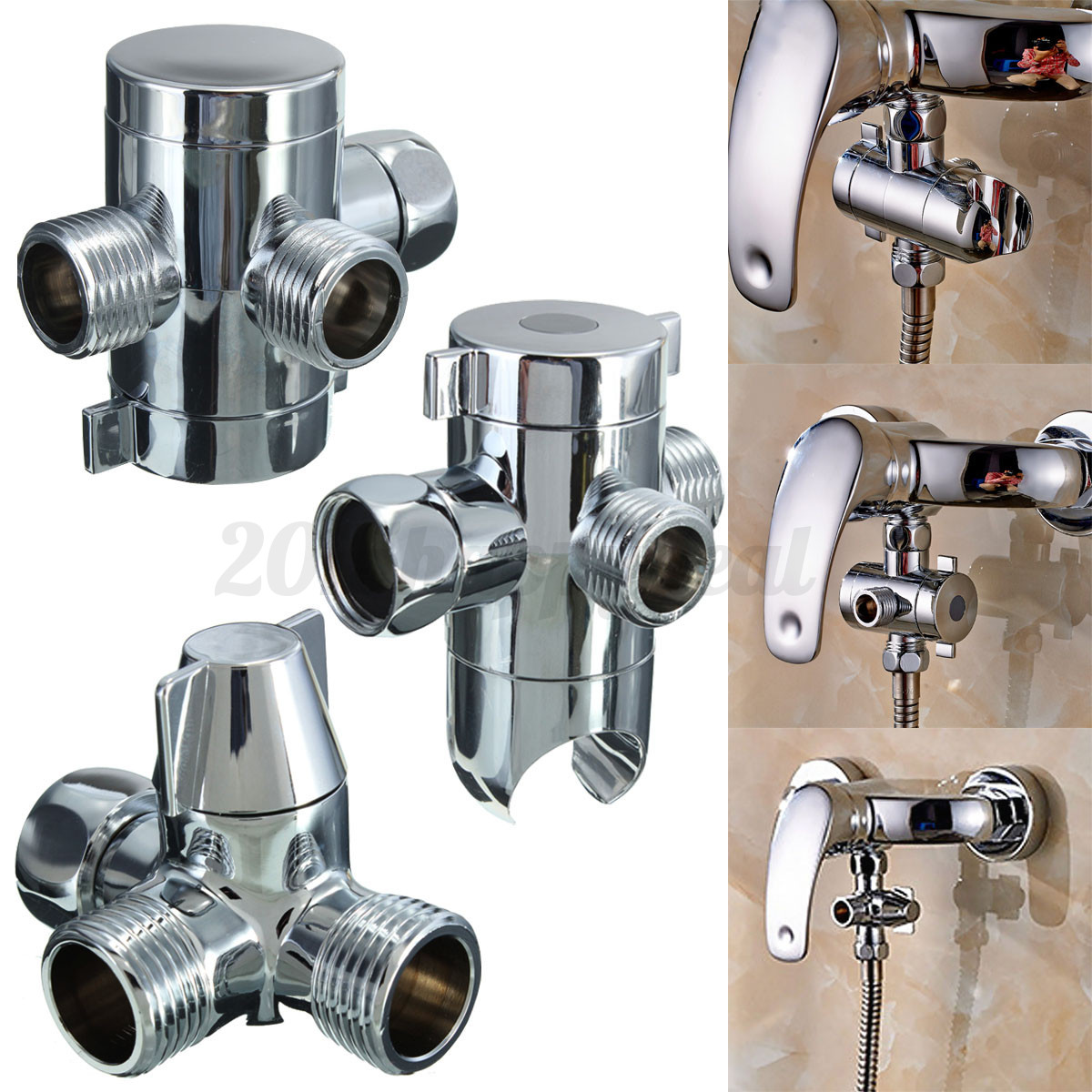 1 2 sliver three waterway switch shower head t adapter bath tub trip lever bath tub stopper replacement or