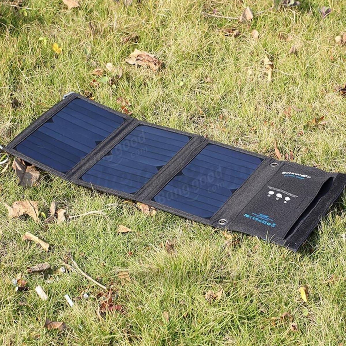Blitzwolf 20w 3a Foldable Portable Solar Sun Charger Usb