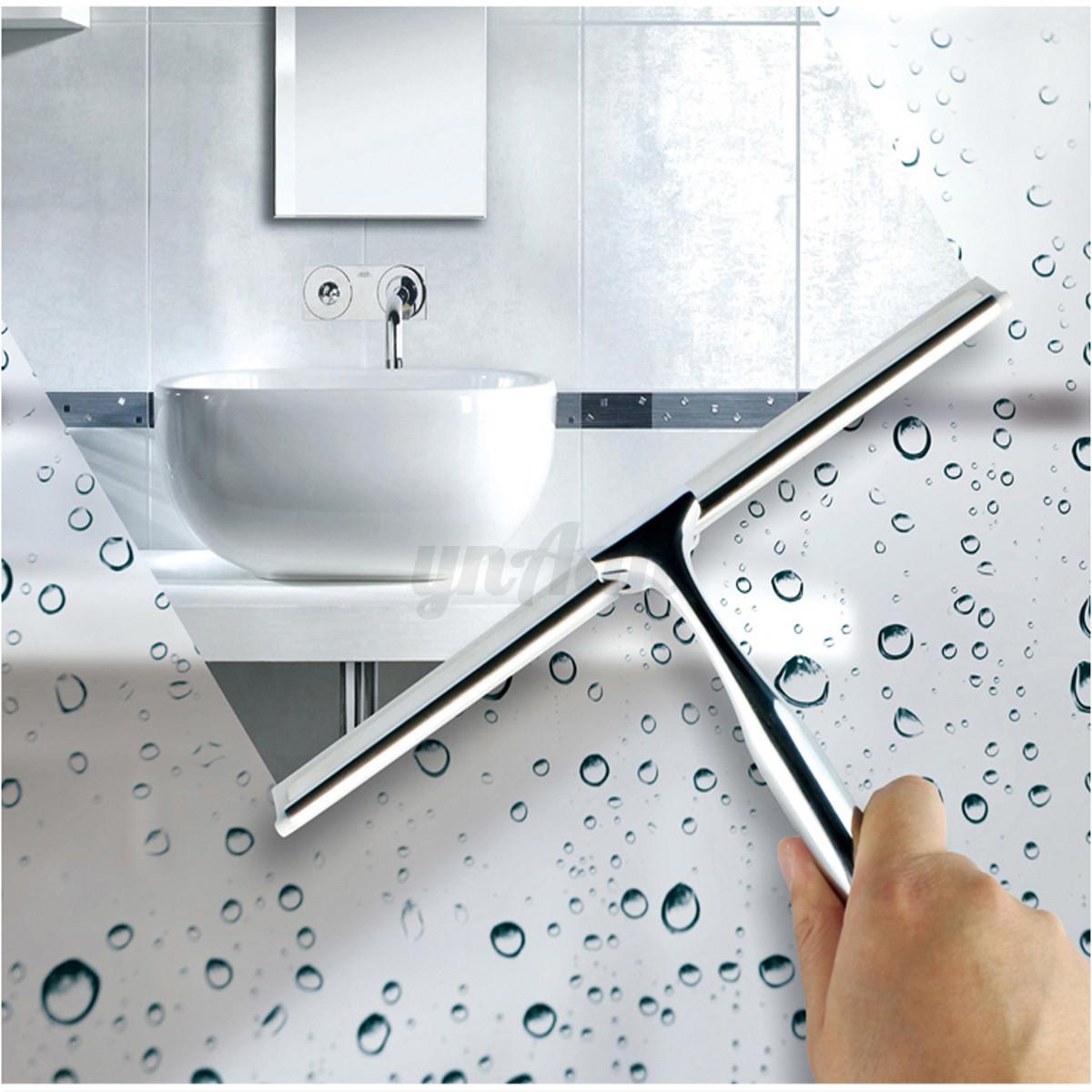 Inox essuie glace raclette douche fen tre verre miroir for Nettoyage carrelage salle de bain
