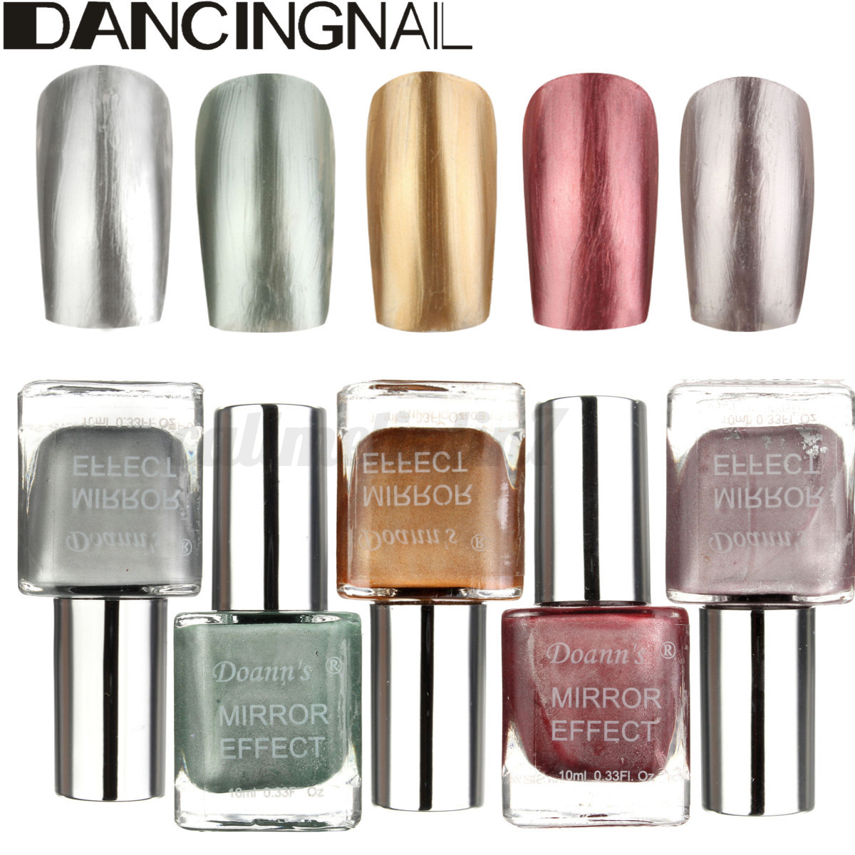 10ml miroir vernis ongles argent soak off semi for Vernis a ongle miroir