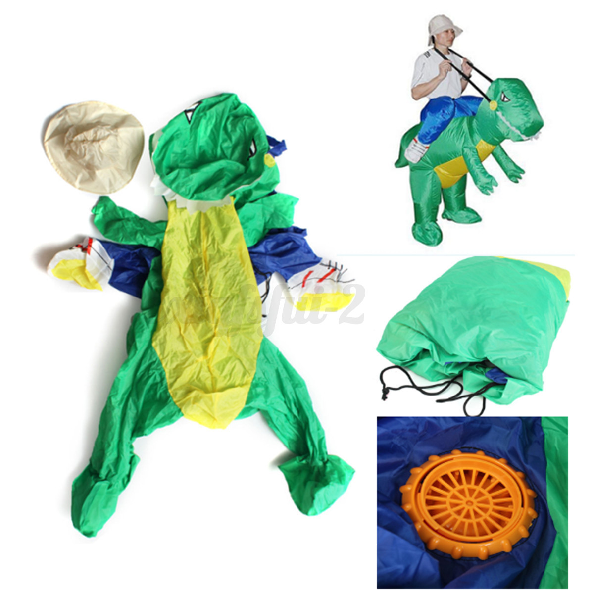 aufblasbar dinosaurier reiten erwachsene kost m fasching karneval kleidung de ebay. Black Bedroom Furniture Sets. Home Design Ideas