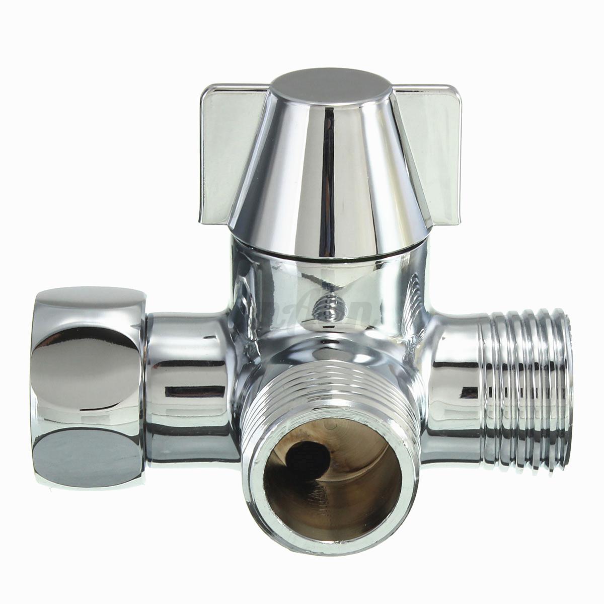 g1 2 quot brass chrome 3 way shower head diverter valve for