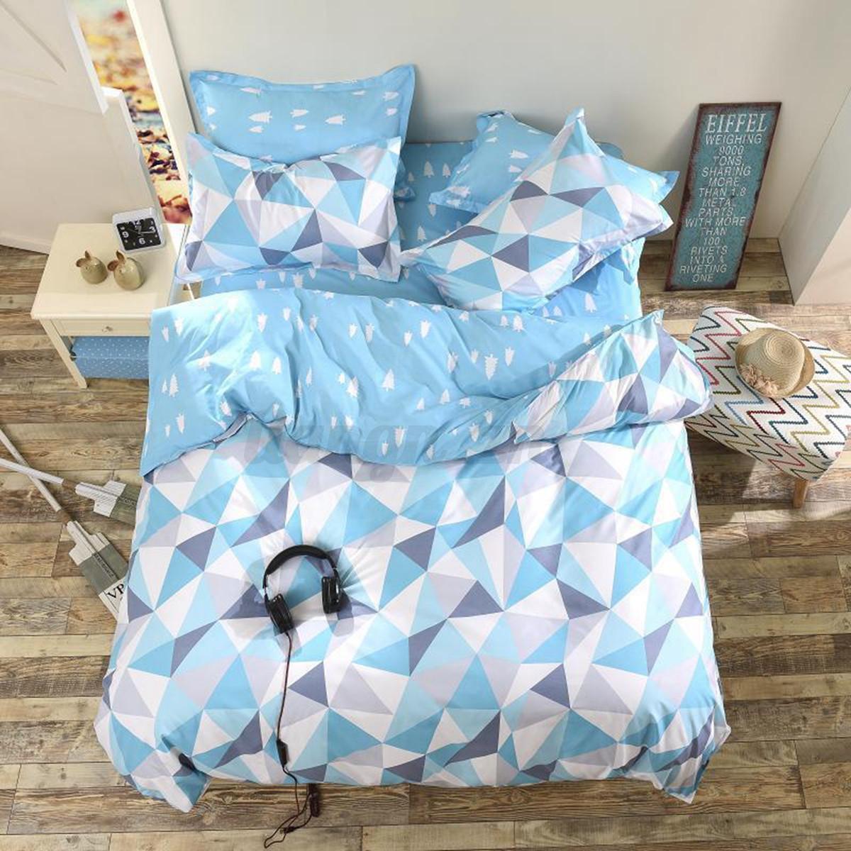 3 4pcs parure de lit housse couette drap couverture taie for Housse couverture