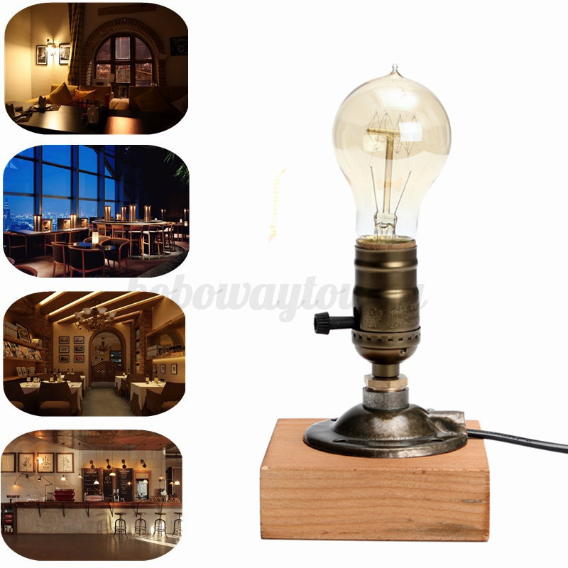 e27 led lampenfassung sockel vintage industrial retro adapter tischlampe dimmbar eur 14 50. Black Bedroom Furniture Sets. Home Design Ideas