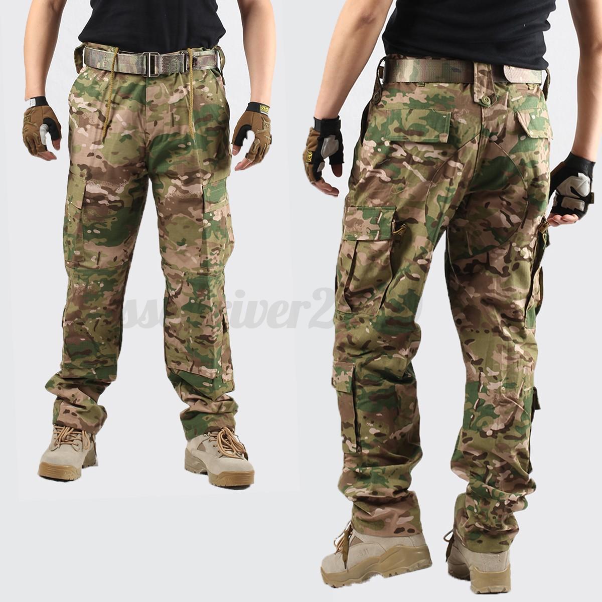 neuf fashion coton pantalon homme treillis cargo camouflage militaire trousers ebay. Black Bedroom Furniture Sets. Home Design Ideas