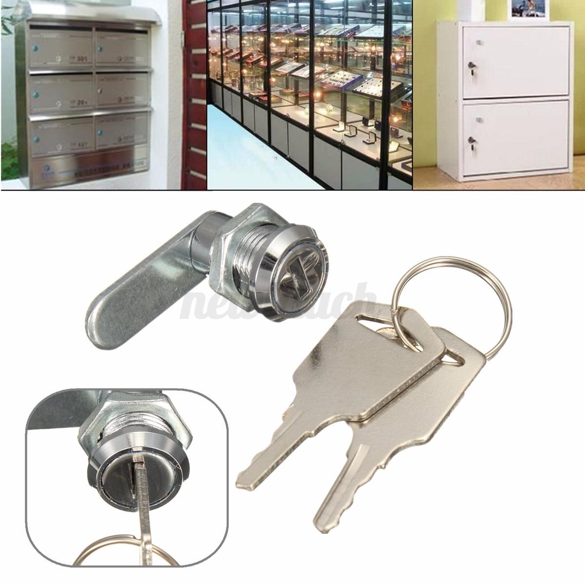 Cam lock for door file cabinet mailbox drawer cupboard