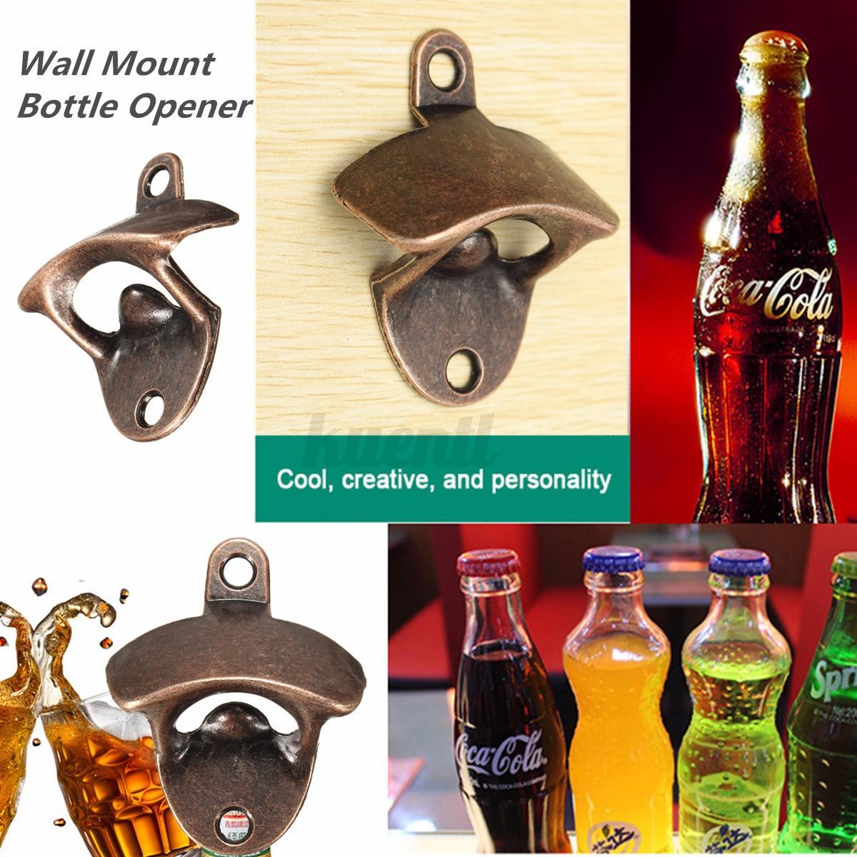 Red Bronze Wall Mount Bar Club Beer Wine Soda Glass Cap